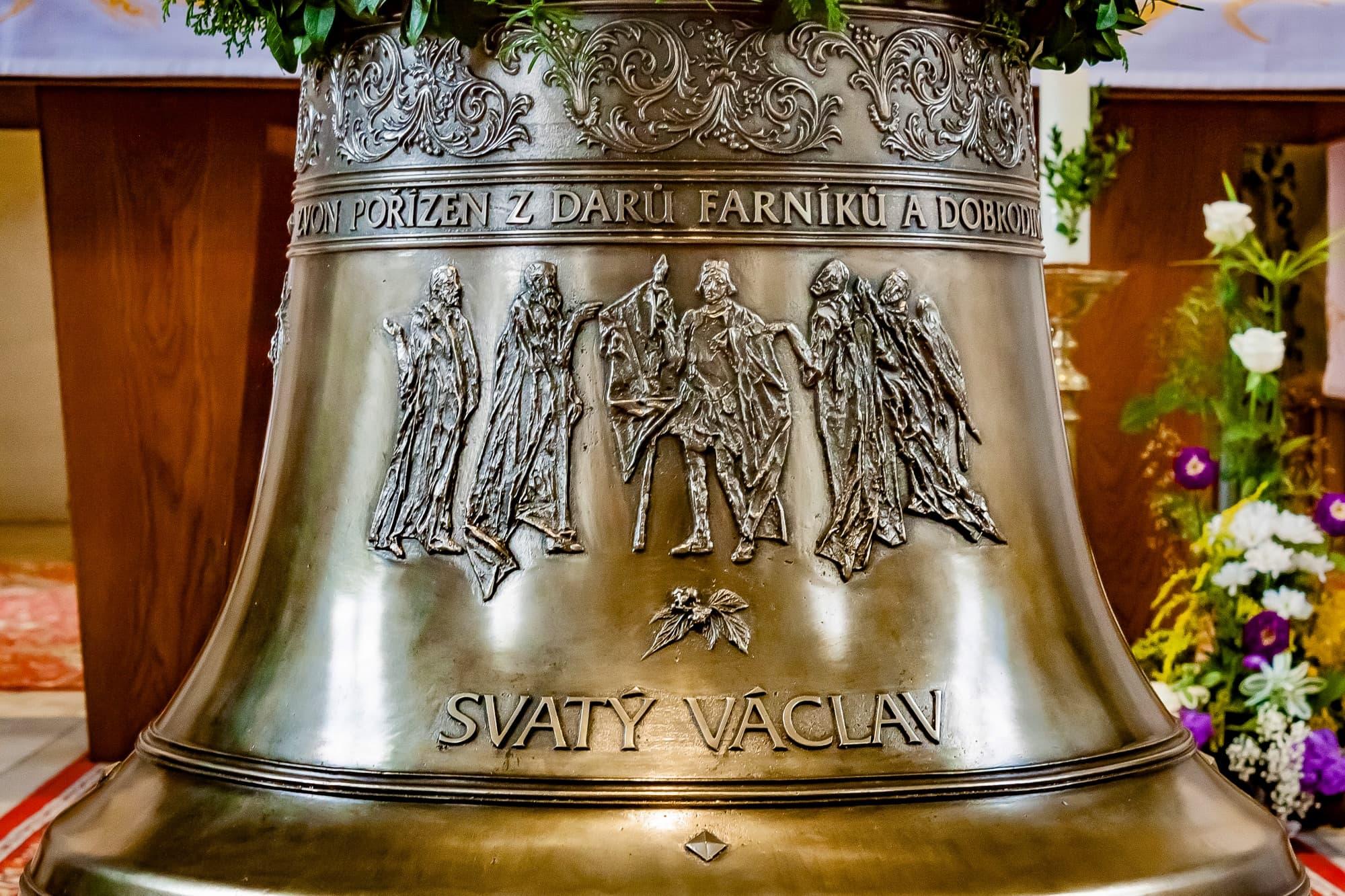 Zvon Václav v Kostele Božského Srdce Páně v Hlubočkách