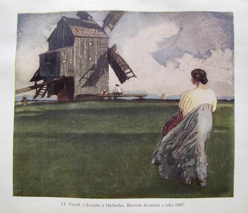 Adolf Kašpar – Větrák v Jestřabí u Hlubočku (1907)
