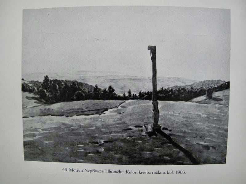 Adolf Kašpar – Motiv z Nepřívaz u Hlubočku (1903)