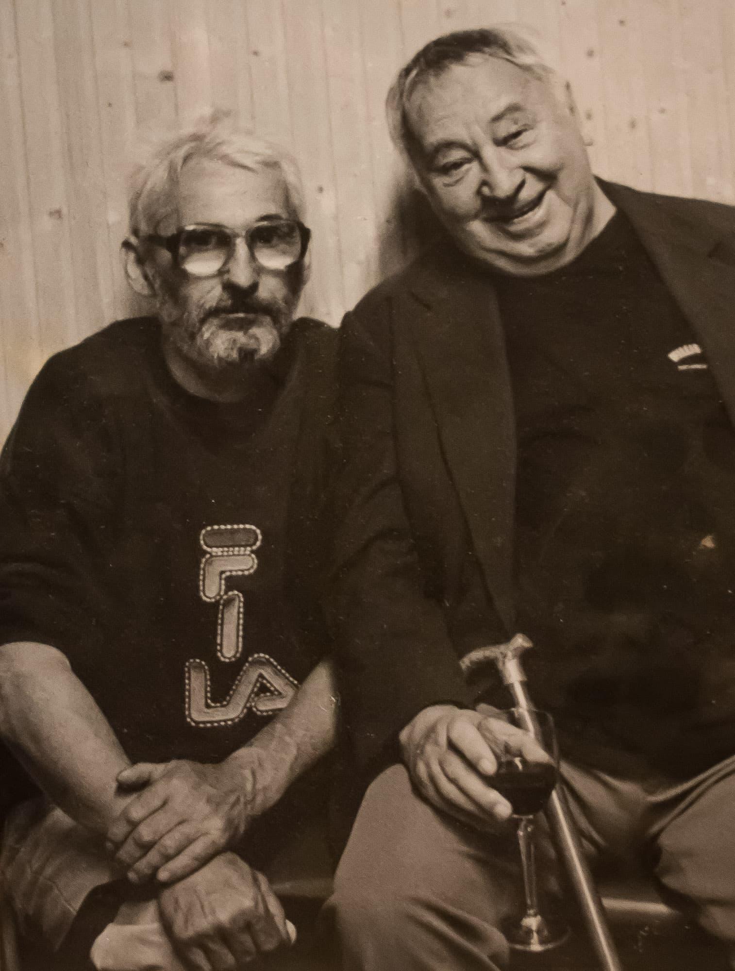 Ivan Šimáček s Miroslavem Horníčkem