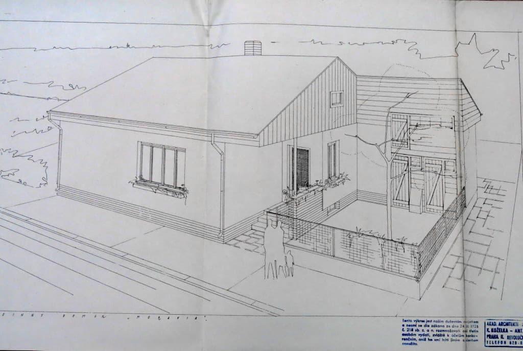 Plán architekta Karla Koželky