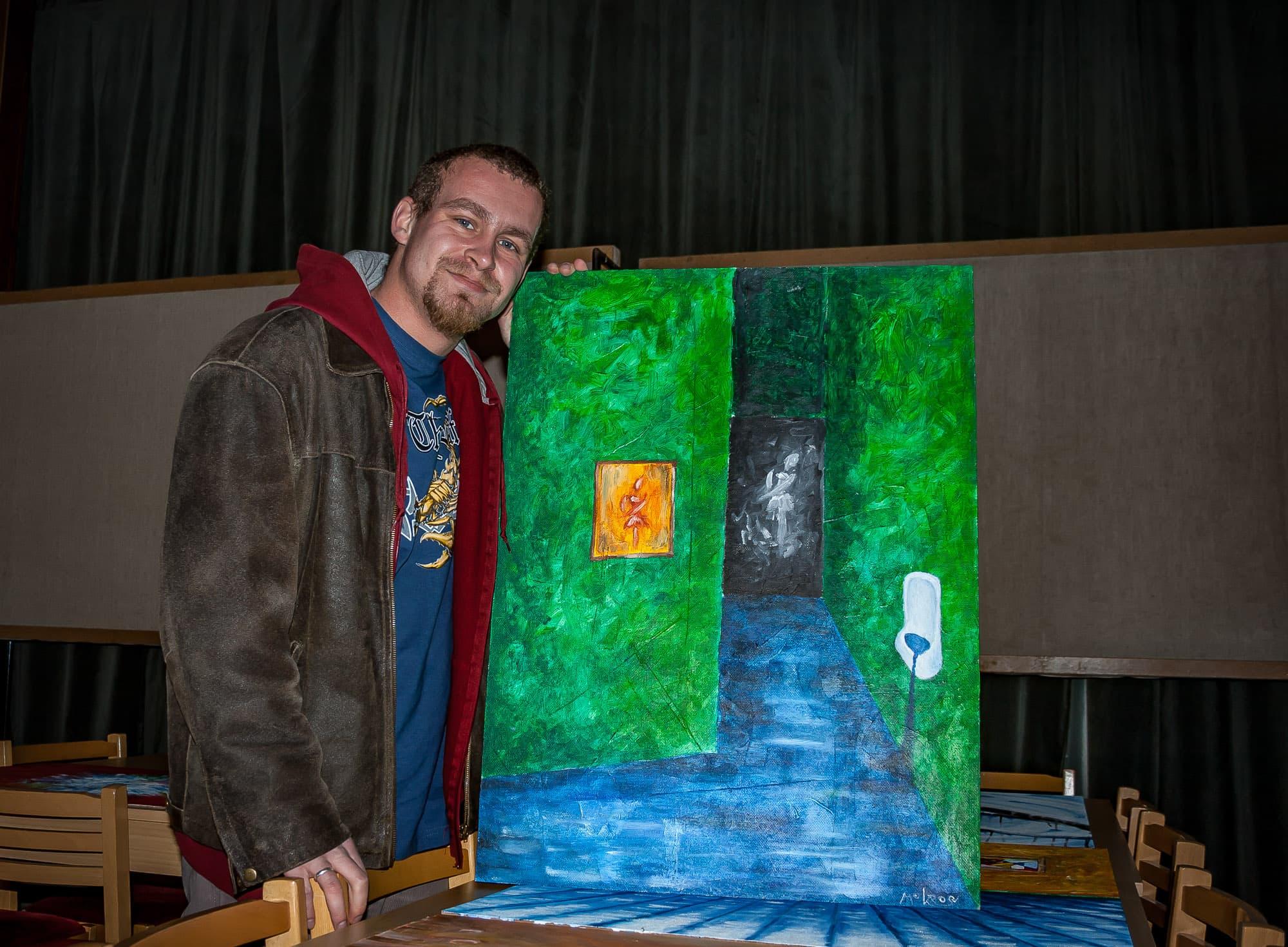 Petr Mokroš na Výstavě pro nezaujaté oči v Mariánském Údolí